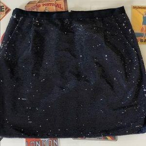 Mini skirt navy sequins size 4